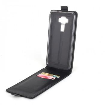 Чехол вертикальная книжка на силиконовой основе с отсеком для карт на магнитной защелке для Asus ZenFone 3 5.2