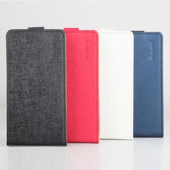 Текстурный чехол вертикальная книжка на силиконовой основе на магнитной защелке для Asus ZenFone 3 5.2