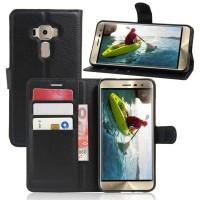 Чехол портмоне подставка на силиконовой основе на магнитной защелке для Asus ZenFone 3 5.2  Черный