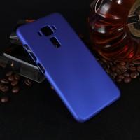Пластиковый непрозрачный матовый чехол для Asus ZenFone 3 5.2 Синий
