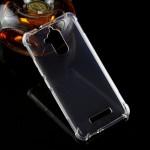 Силиконовый глянцевый транспарентный чехол с усиленными углами для Asus ZenFone 3 Max