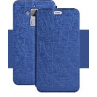 Чехол горизонтальная книжка подставка текстура Линии на силиконовой основе для Asus ZenFone 3 Max Синий