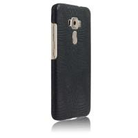 Чехол накладка текстурная отделка Кожа для Asus ZenFone 3 5.5 Черный