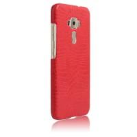 Чехол накладка текстурная отделка Кожа для Asus ZenFone 3 5.5 Красный