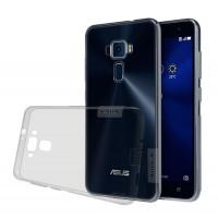Силиконовый матовый полупрозрачный чехол с улучшенной защитой элементов корпуса (заглушки) для Asus ZenFone 3 5.5 Серый