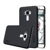 Пластиковый непрозрачный матовый нескользящий премиум чехол для Asus ZenFone 3 5.5 Черный