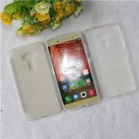 Силиконовый матовый полупрозрачный чехол для Asus ZenFone 3 5.5 Белый