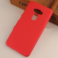 Пластиковый непрозрачный матовый чехол для Asus ZenFone 3 5.5 Красный