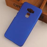 Пластиковый непрозрачный матовый чехол для Asus ZenFone 3 5.5 Синий