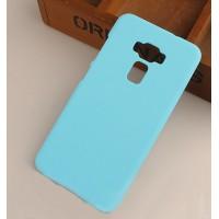 Пластиковый непрозрачный матовый чехол для Asus ZenFone 3 5.5 Голубой