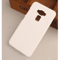 Пластиковый непрозрачный матовый чехол для Asus ZenFone 3 5.5 Белый