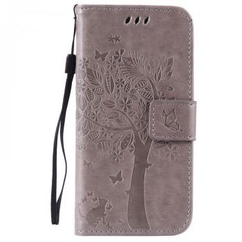 Винтажный чехол портмоне подставка на силиконовой основе на магнитной защелке для Huawei Honor 5A/Y5 II