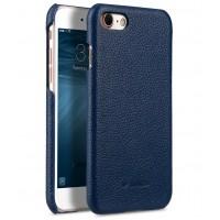 Кожаный чехол накладка для Iphone 7  Синий