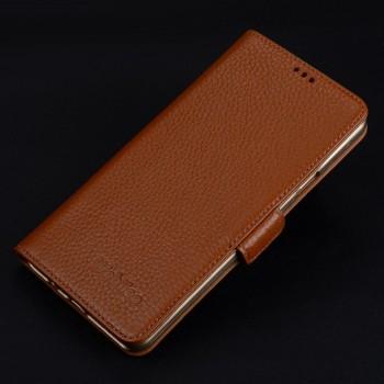 Кожаный чехол портмоне подставка (премиум нат. кожа) с крепежной застежкой для Iphone 7 Plus