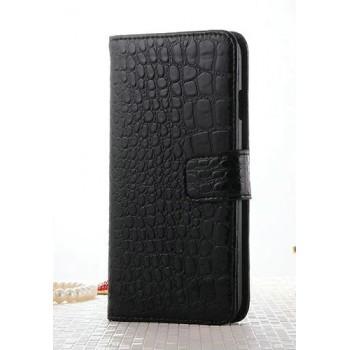 Чехол портмоне подставка текстура Крокодил на пластиковой основе на магнитной защелке для Iphone 7 Plus