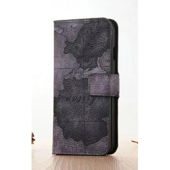 Винтажный чехол портмоне подставка на пластиковой основе с полноповерхностным принтом на магнитной защелке для Iphone 7 Plus