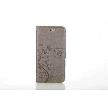 Чехол портмоне подставка текстура Узоры на силиконовой основе на магнитной защелке для Iphone 7 Plus