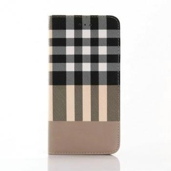 Чехол портмоне подставка текстура Линии на пластиковой основе для Iphone 7 Plus