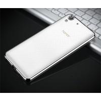 Силиконовый матовый полупрозрачный чехол текстура Металлик для Huawei Y6II  Белый