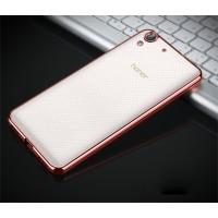 Силиконовый матовый полупрозрачный чехол текстура Металлик для Huawei Y6II