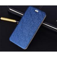 Чехол горизонтальная книжка подставка текстура Линии на силиконовой основе для Huawei Y6II  Синий