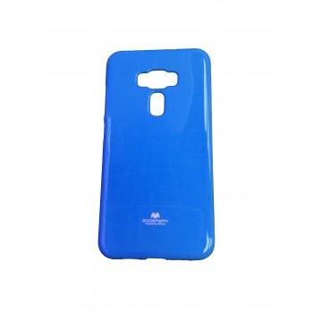 Силиконовый глянцевый непрозрачный чехол для Asus ZenFone 3