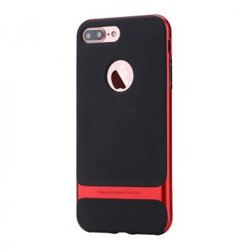 Противоударный двухкомпонентный силиконовый матовый непрозрачный чехол с поликарбонатными вставками экстрим защиты для Iphone 7 Plus