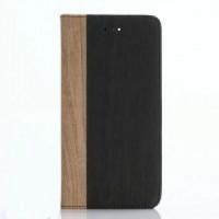 Чехол портмоне подставка текстура Дерево на пластиковой основе для Iphone 7
