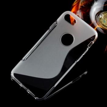 Силиконовый матовый полупрозрачный чехол с дизайнерской текстурой S для Iphone 7