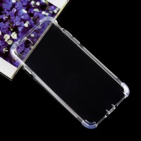 Силиконовый матовый полупрозрачный чехол с улучшенной защитой элементов корпуса (заглушки) для Iphone 7  Белый