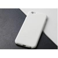 Силиконовый матовый непрозрачный нескользящий премиум софт-тач чехол для Iphone 7  Белый