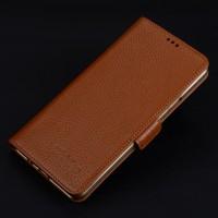 Кожаный чехол портмоне подставка (премиум нат. кожа) с крепежной застежкой для Iphone 7