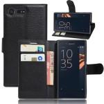 Чехол портмоне подставка на силиконовой основе на магнитной защелке для Sony Xperia X Compact