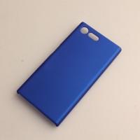 Пластиковый непрозрачный матовый чехол для Sony Xperia X Compact  Синий