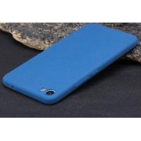 Силиконовый матовый непрозрачный чехол для Meizu U20 Синий