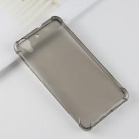 Силиконовый матовый полупрозрачный чехол с усиленными углами для Huawei Y6II  Черный