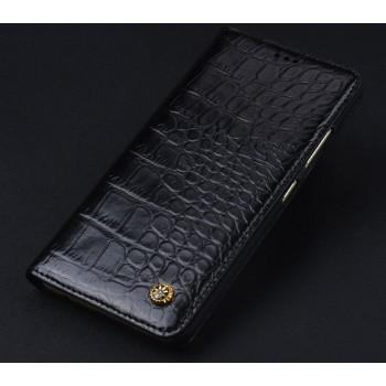 Кожаный чехол горизонтальная книжка (премиум нат. кожа крокодила) для Xiaomi RedMi Note 4