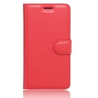 Чехол портмоне подставка на силиконовой основе на магнитной защелке для Xiaomi RedMi Note 4  Красный