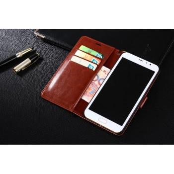 Глянцевый чехол портмоне подставка на пластиковой основе на магнитной защелке для Xiaomi RedMi Note 4
