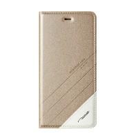 Чехол горизонтальная книжка подставка текстура Линии на пластиковой основе для Xiaomi RedMi Note 4  Бежевый