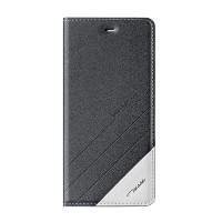 Чехол горизонтальная книжка подставка текстура Линии на пластиковой основе для Xiaomi RedMi Note 4  Черный