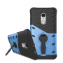Противоударный двухкомпонентный силиконовый матовый непрозрачный чехол с поликарбонатными вставками экстрим защиты с встроенной ножкой-подставкой для Xiaomi RedMi Note 4