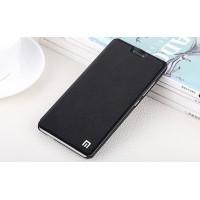 Чехол горизонтальная книжка подставка на пластиковой основе для Xiaomi RedMi Note 4 Черный