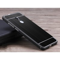 Двухкомпонентный чехол c металлическим бампером с поликарбонатной накладкой и текстурным покрытием Металл для Xiaomi RedMi Note 4