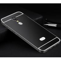 Двухкомпонентный чехол c металлическим бампером с поликарбонатной накладкой для Xiaomi RedMi Note 4  Черный
