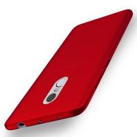 Пластиковый непрозрачный матовый чехол с улучшенной защитой элементов корпуса для Xiaomi RedMi Note 4  Красный