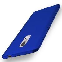 Пластиковый непрозрачный матовый чехол с улучшенной защитой элементов корпуса для Xiaomi RedMi Note 4  Синий