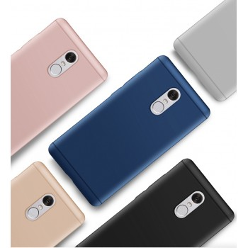 Пластиковый непрозрачный матовый металлик чехол для Xiaomi RedMi Note 4