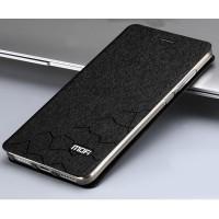 Чехол флип подставка текстура Соты на силиконовой основе для Xiaomi RedMi Note 4 Черный