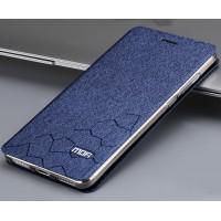 Чехол флип подставка текстура Соты на силиконовой основе для Xiaomi RedMi Note 4